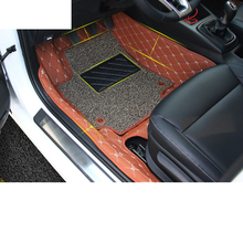 Lsrtw2017 Durable Waterproof Leather Car Interior Foot Mat for Kia Kx Cross K2 Rio lsrtw2017 durable waterproof leather car trunk mat gloor mat for kia kx cross