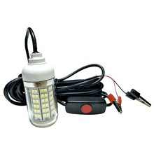 15W Waterproof LED Underwater Light Night Fishing Light Fish Lure Lamp for 12V Marine Boat Yacht