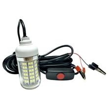 Luz LED subacuática de 15W, luz de pesca nocturna, lámpara señuelo de pescado para yate, barco marino de 12V
