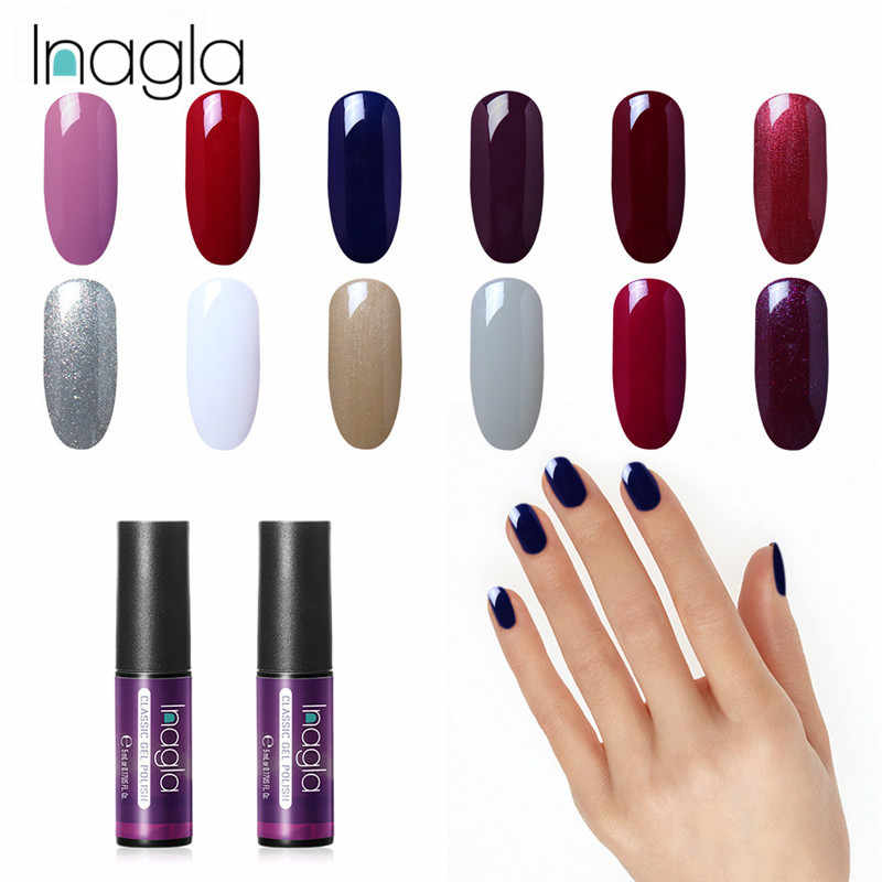 Inagla 5ML Nail Polish Gorgeous Color Nail Gel Polish Soak Off Enamel Gel Polish UV Gel Nail Polish Lacquer Varnish