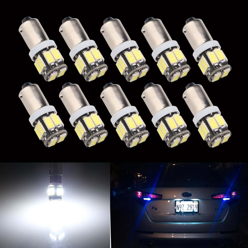 10pcs/lot 12V White BA9S 5630 10 SMD Led Bulbs Clearance Reverse Tail Signal Lights Car Interior Reading Lights Free Shipping 12v ba9s free shipping 100pcs lot h6w replacement led auto led light bulbs t4w machine working bulbs side mark lights rl301