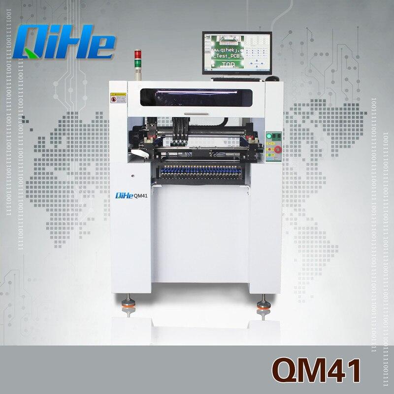 QM41 QIHE полностью автоматическая электронная товары оборудование светодио дный светодиодная сборочная линия палочки и место машина Chip Mounter
