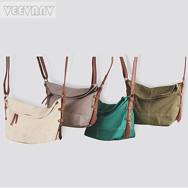 Veevanv 2018 Retro Women Messenger Bags Canvas Vintage Crossbody Bag Female Shoulder For S School