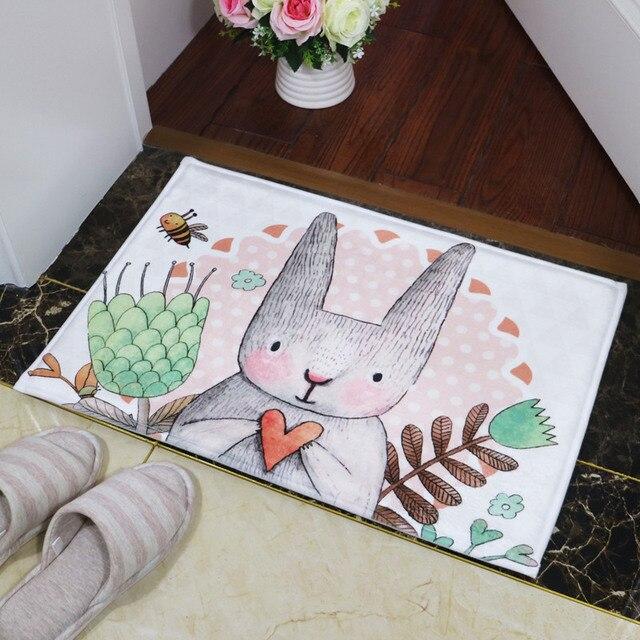 Bagno Tappeto Porta Pavimento Antiscivolo Assorbente Carino Odore Del Coniglio di Stampa Da Bagno Zerbino Cucina Carpet Tappeti Porta Zerbino tapete box