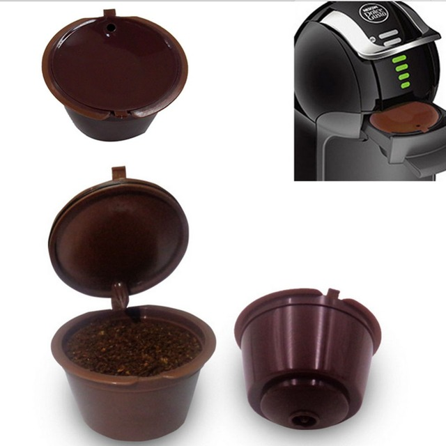 refillable reusable coffee capsules pod cup for nescafe. Black Bedroom Furniture Sets. Home Design Ideas