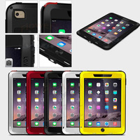 LOVE MEI Powerful Waterproof Metal Silicone Hybrid Case With Gorilla Glass Temperd Glass Screen Protector For