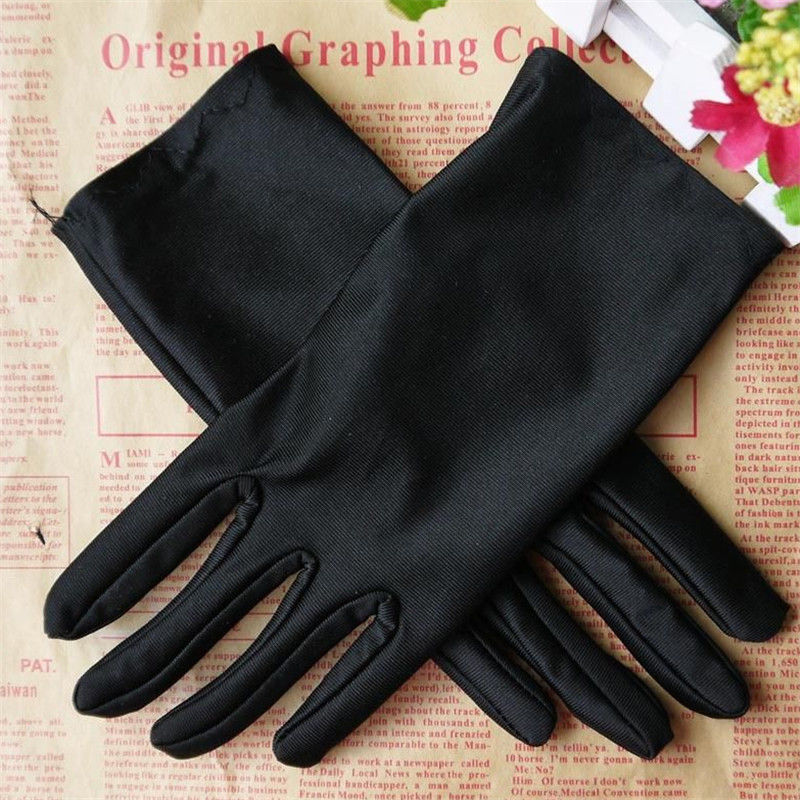 Fashion Hot Sail Evening Party  Formal Prom Stretch Solid Women Satin Gloves Women
