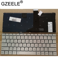 GZEELE Russian laptop Keyboard for Xiaomi MI Air 12.5 inch 6037B0127601 MK10000005661 9Z.ND6BV.001 RU silver notebook Backlit