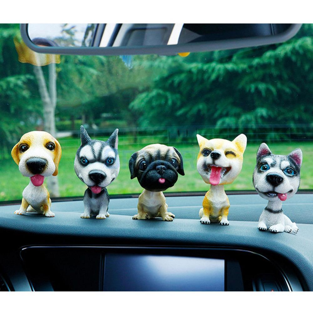 5 Options Lovely Lifelike Shaking Head Doll Nodding Dog Bobbing Puppy Toys Model Car Home Decor Ornaments Auto Accessories