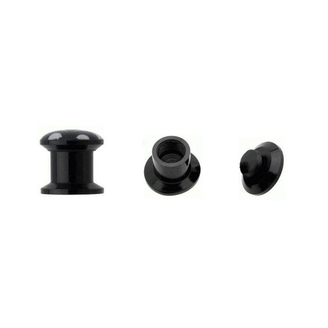 Black Acrylic Baphomet Pentagram Ear Tunnel 1pair