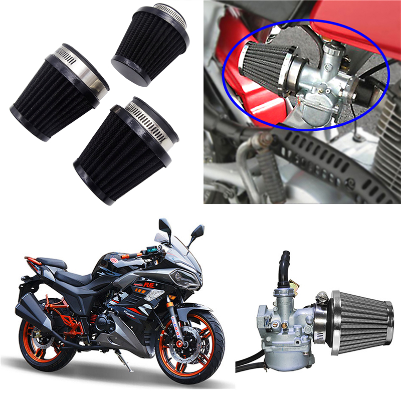 1 Pcs 35mm 39mm 48mm 54mm 60mm Universal Motorcycle Air Filter Cleaner Air Pod for Honda Yamaha Harley Cafe Scooter Filter-in Air Filters & Systems from Automobiles & Motorcycles