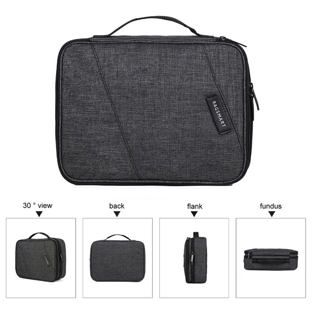 BAGSMART Travel Electronics Organizer Bag Portable Digital Accessory Bag for Cable Charger Wire iPad Waterproof Gadget Bag