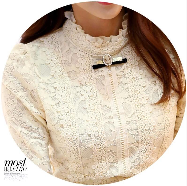 HTB1OqDwGVXXXXa8apXXq6xXFXXXC - New Lace Shirt Women Clothing Blusas Femininas Blouses