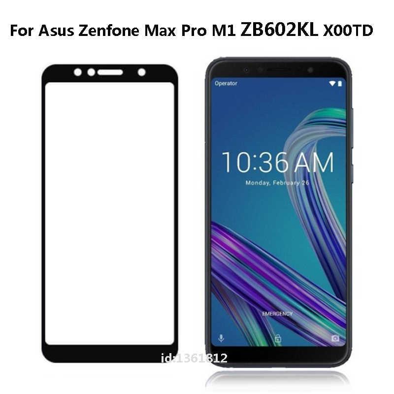 ZB602KL الزجاج كامل غطاء الشاشة الزجاج المقسى ل آسوس ZenFone ماكس برو M1 ZB602KL واقي للشاشة طبقة رقيقة واقية 9 H HD