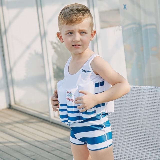 2e1ba37e3b SABOLAY Children's One-Piece Summer Buoyant life Vest Floatation Swimming  Suit Kids Swimwear Beach Surfing Boys Swimsuit