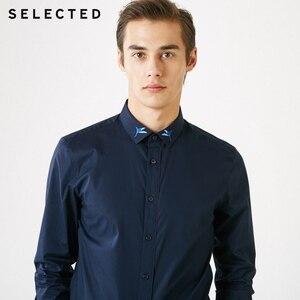 Image 2 - 選択された男性のハチドリ刺繍スリムフィット長袖シャツs