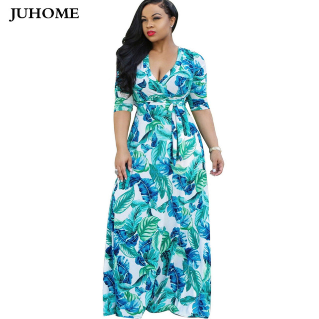 9ebf056c9f 2018 duży rozmiar celebrity kobiety jesień długa sukienka kwiatowy Print  Boho sukienka sukienki Maxi wieczorne letnia