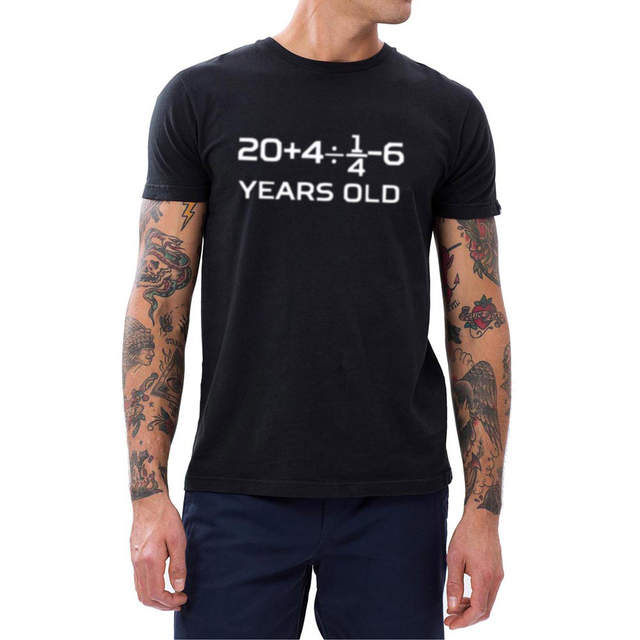 Online Shop Mens 30 Years Old Algebra Equation 30th Birthday T Shirts Men Humour Tee