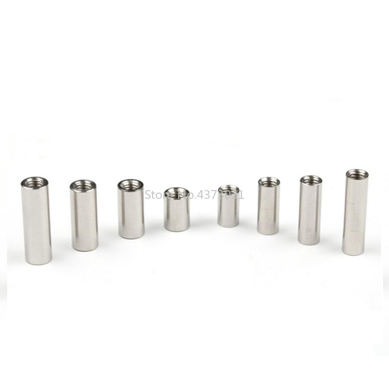 10 Pieces Diy Knife Material Making Knife Handle Screw Cylindrical Nuts Connecting Pipe Rivet Cheese M4 Thread