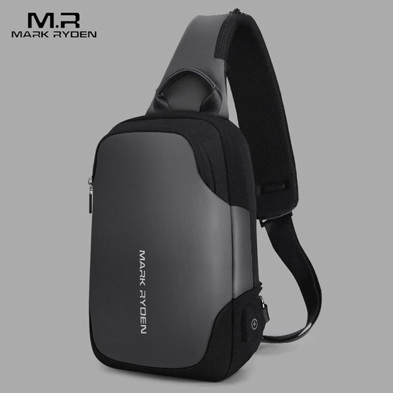 Mark Ryden New Anti-theft Crossbody Bag Waterproof Men Sling Chest Bag Fit 9.7inch Ipad Fashion Shoulder Bag Mens Chest Pack Mark Ryden New Anti-theft Crossbody Bag Waterproof Men Sling Chest Bag Fit 9.7inch Ipad Fashion Shoulder Bag Mens Chest Pack