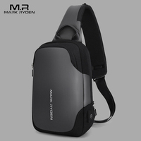 Mark Ryden New Anti theft Crossbody Bag Waterproof Men Sling Chest Bag Fit 9.7inch Ipad Fashion Shoulder Bag Men's Chest Pack