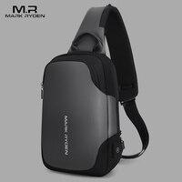 Mark Ryden New Anti theft Crossbody Bag Waterproof Men Sling Chest Bag Fit 9.7inch Ipad Fashion Shoulder Bag Men's Chest Pack