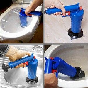 Image 4 - Drop Shipping Home wysokociśnieniowy powietrzny udrażniacz Blaster tłok pompy zlew rura płyn do udrażniania rur toalety łazienka zestaw do czyszczenia kuchni