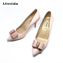 Umida Brand Women Shoes Genuine Leather High Heel Shoes Women Pumps Pointed Toe Pumps Customized Color High Heels Wedding Shoes