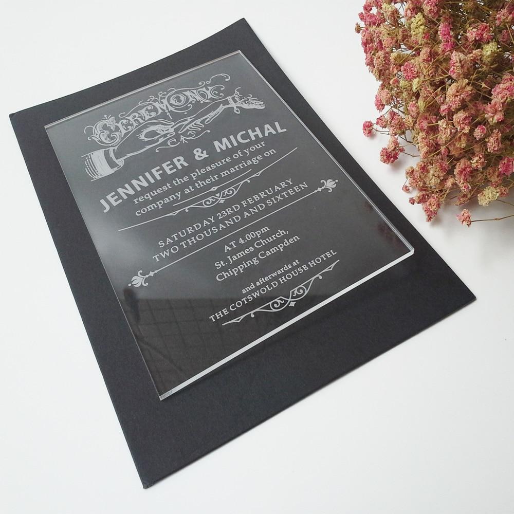 100 piezas por lote ceremonia 5 * 7 pulgadas forma rectangular letras - Para fiestas y celebraciones - foto 5