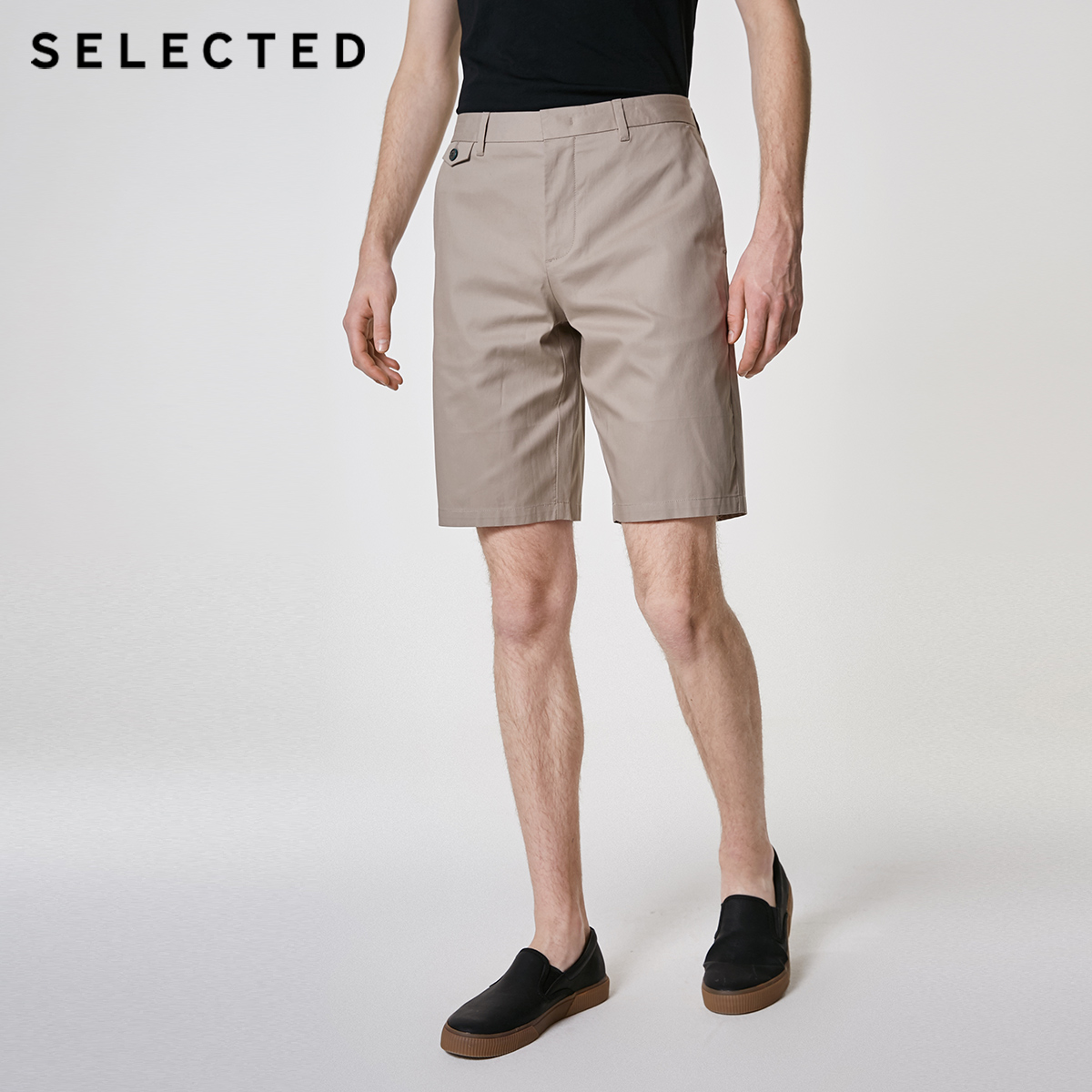SELECTED Men's Summer 100% Cotton Straight Fit Shorts S|4192SH521