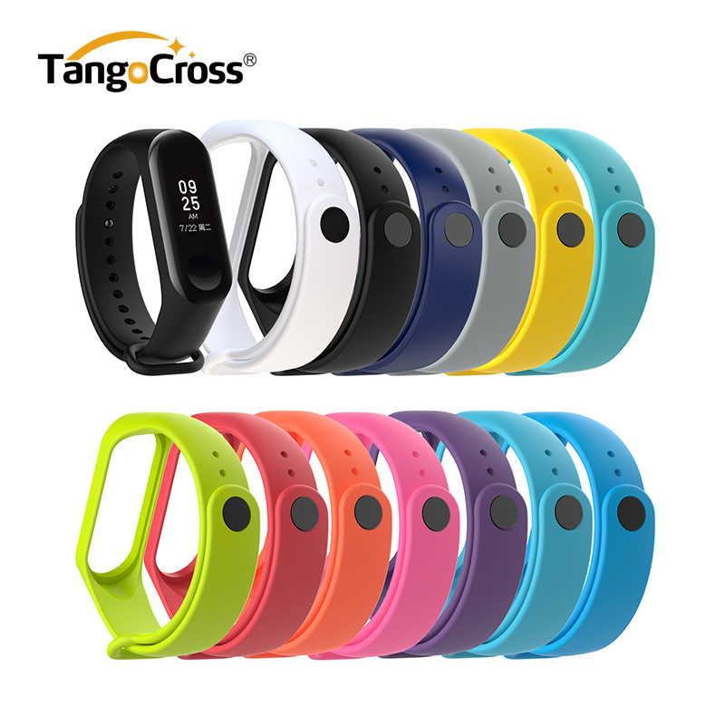 1pc For Xiaomi Mi Band 3 Strap Smart Accessories For Xiaomi Miband 3 Smart Wristband Replacement Of Mi Band 4 Strap 13 Colors(China)