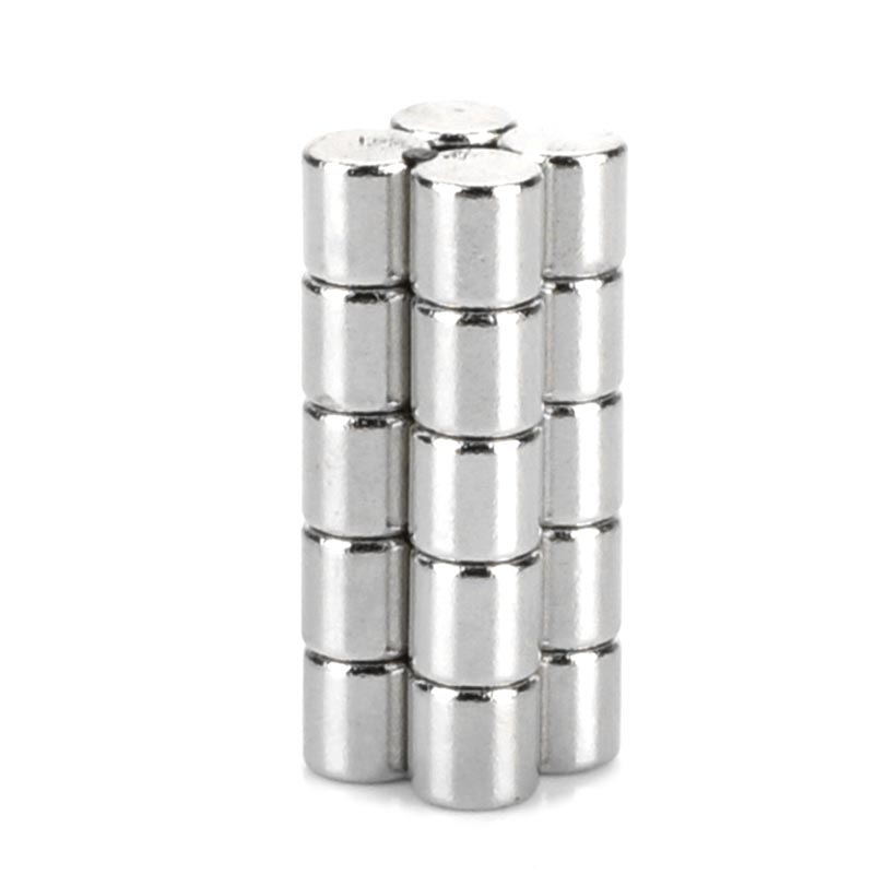 DIY 5 x 5mm Cylindrical NdFeB Magnet ND-FE-B round strong magnetic sheet rectangular magnets with holes- Silver (20 PCS) 5 x 1 9mm cylindrical ndfeb magnet silver 20pcs