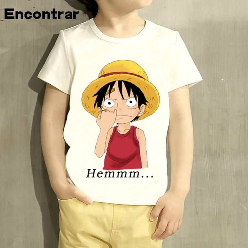 kids Luffy Hemmmm Pull The Nose Design TShirt Boys/Girls Great Casual Short Sleeve Tops Children Cute T-Shirt,HKP2296