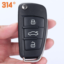 3 Button Folding Flip Remote Car Key Shell Case Replacement Gift Cancel Pin Screwdriver Battery Suit For AUDI A6L / A4L Q7/TT