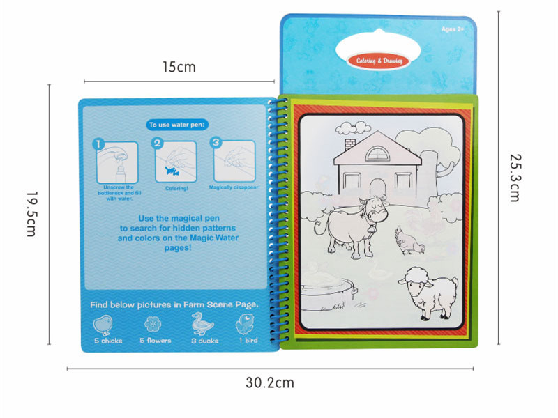 Aliexpress Buy 10 Pcs New Arrives Magic Kids Water Drawing Book With 1 Pen Intimate Coloring Painting Board From Reliable