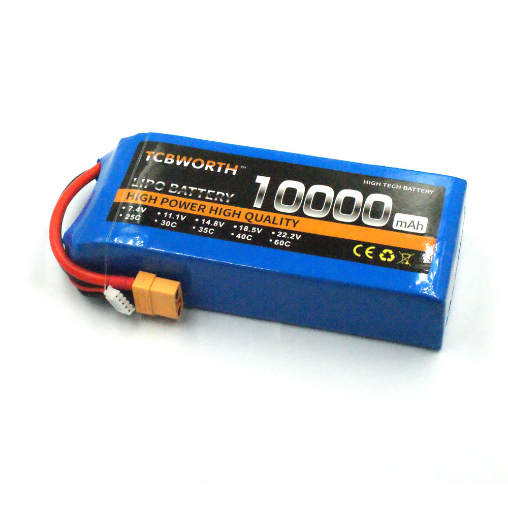 RC Drone 3S Lipo battery Power 10000mAh 11.1V 25C pour RC Airplane Car Tank Helicopter Toys Models Li-ion Batteria AKKU TCBWORTH 2018 zdf power li polymer lipo battery 3s 11 1v 10000mah 25c max 50c for helicopter rc model quadcopter airplane drone