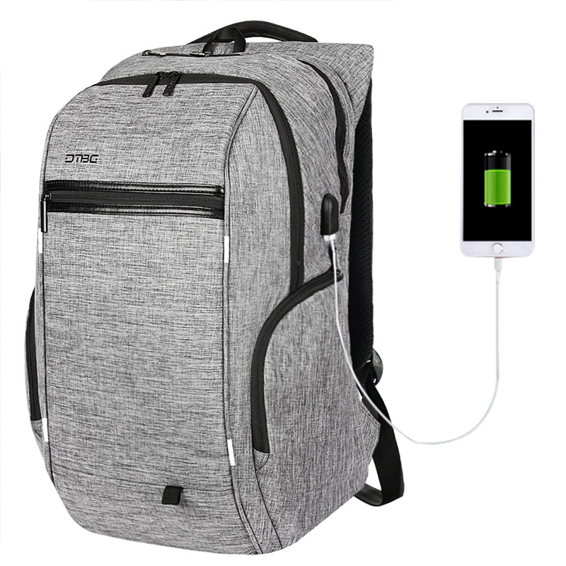 DTBG Travel Bags 15.6 Inch Laptop Backpack Waterproof Out Backpacks Men Women Anti Theft USB Charging Port Smart Canvas bags dtbg canvas backpack for 17 3 inch laptop smart travel rucksack with usb charging port anti theft plecak bagpack mochilas sac page 5