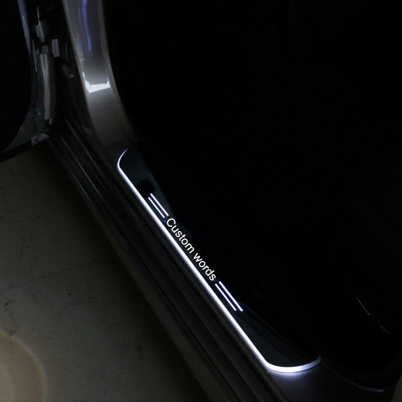 custom made car styling led moving Light Door Sills Scuff Step Plate for Hyundai Santa fe IX45 fit 2010 2011 2012 2013 2014