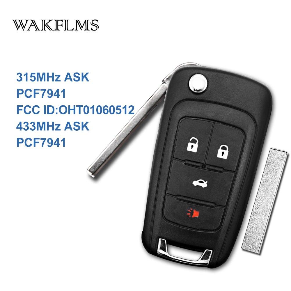 4 Knop Flip Afstandsbediening Autosleutel 315 Mhz 433 Mhz Voor Chevrolet Impala Malibu Camaro Cruze 2010-2017 Met Pcf7941 Chip Oht01060512 Het Verlichten Van Reuma