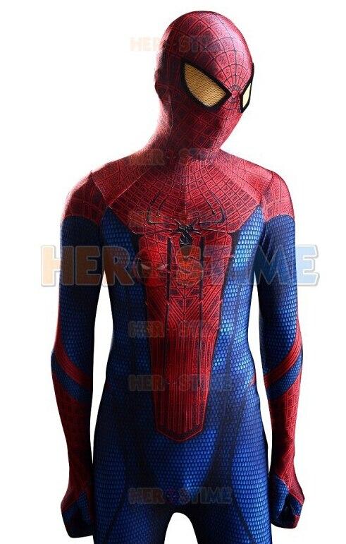 (SN8)The Amazing Spider-man Costume 3D Original Movie Halloween Cosplay Spandex Spiderman Zentai Suit Superhero Costume movie spider man homecoming costume adult spiderman cosplay costume halloween cool superhero spandex zentai suit aubalee