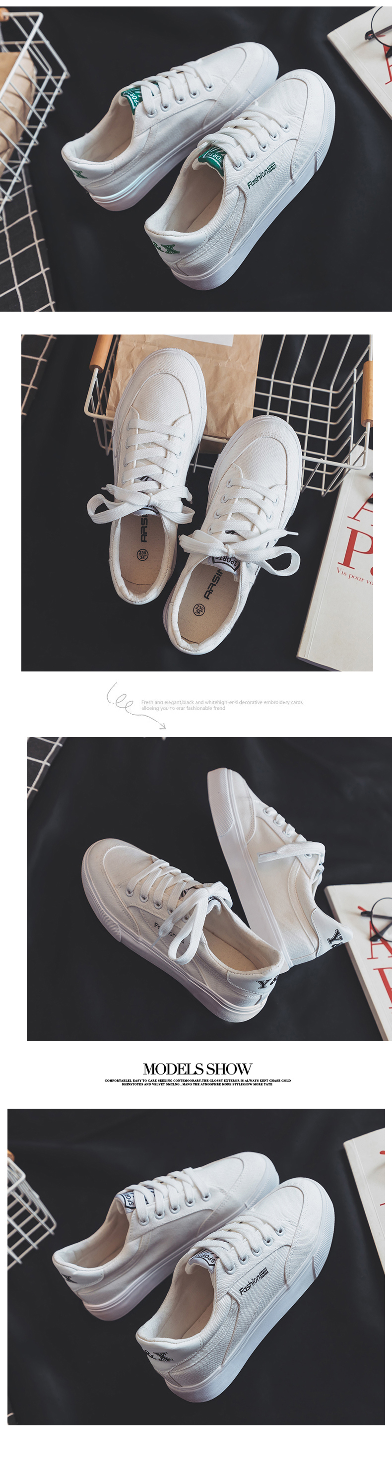 Fashion Style Women Canvas Vulcanized Shoes Simple Design Anti-Skid Sneakers for Female Comfortable Wear Resistant Casual Shoes 11