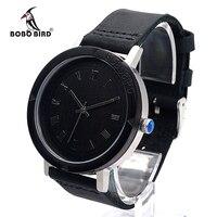 2017 thương hiệu sang trọng bobo bird men đồng hồ bằng gỗ da chính hãng strap đồng hồ đeo tay relogio masculino b-k05