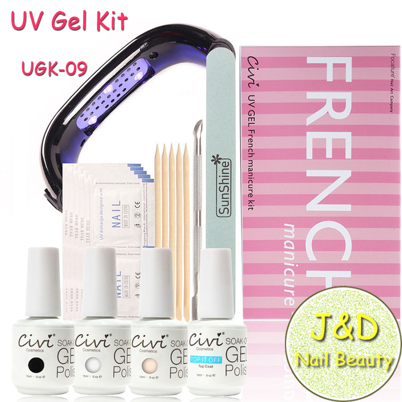 Gel Nail Soak Off Kit: Free Shipping 15ML Nail Gel Kit 9W Nail Lamp Soak Off