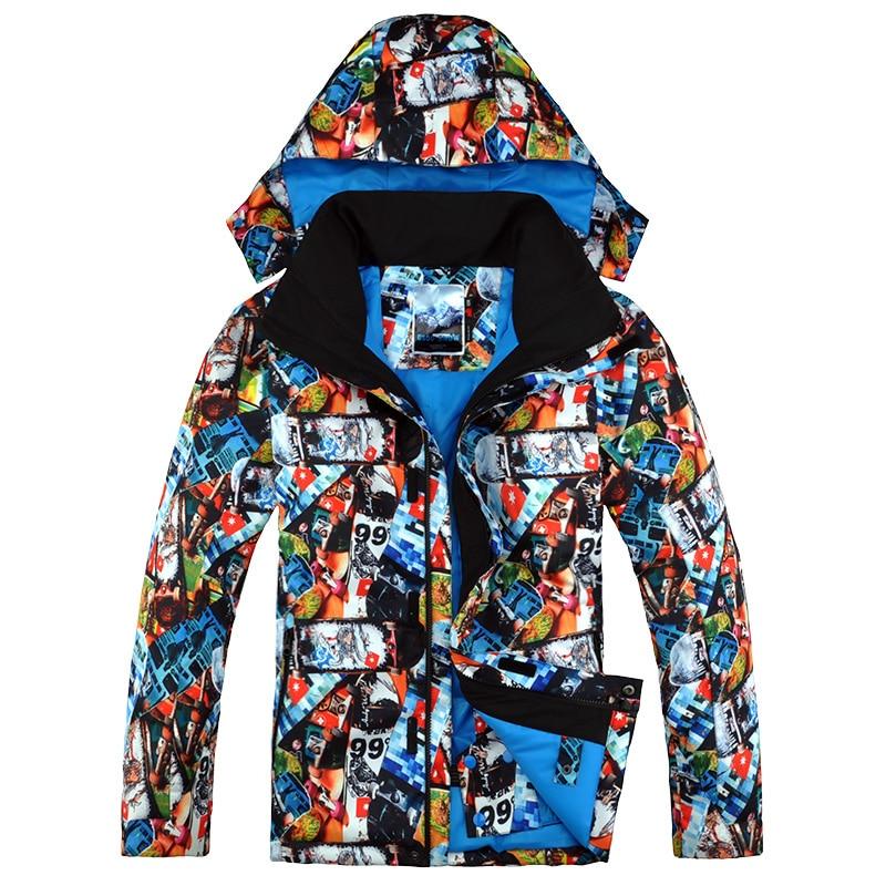 2016 New Gsou Snow Men's Ski Jacket Snowboard Jacket for Men Waterproof Snow Wear Winter Warm Cotton Jacket Windproof Coat 2015 new fashion winter men thickening casual cotton jacket outdoors waterproof windproof breathable coat parkas men h4596