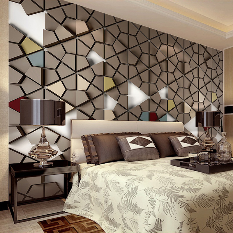 3D Stereoscopic Mosaic Living Room TV Background Large Murals Modern Simple Polygon Pattern Design Office Decor Mural Wallpaper 3d stereoscopic mosaic living room tv