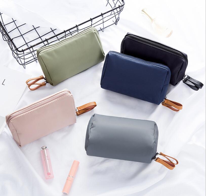 New Arrival Women Nylon Cosmetic Bag Small Makeup Bag Zipper Travel Organizer Storage Bag Waterproof Travel Toiletry Bag Neceser
