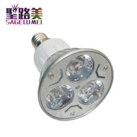 10pcs/unit E14 Warm White 3W LED High power Spot Light Bulb Lamp LED Spotlight 85V 265V AC Free shipping home room decoration