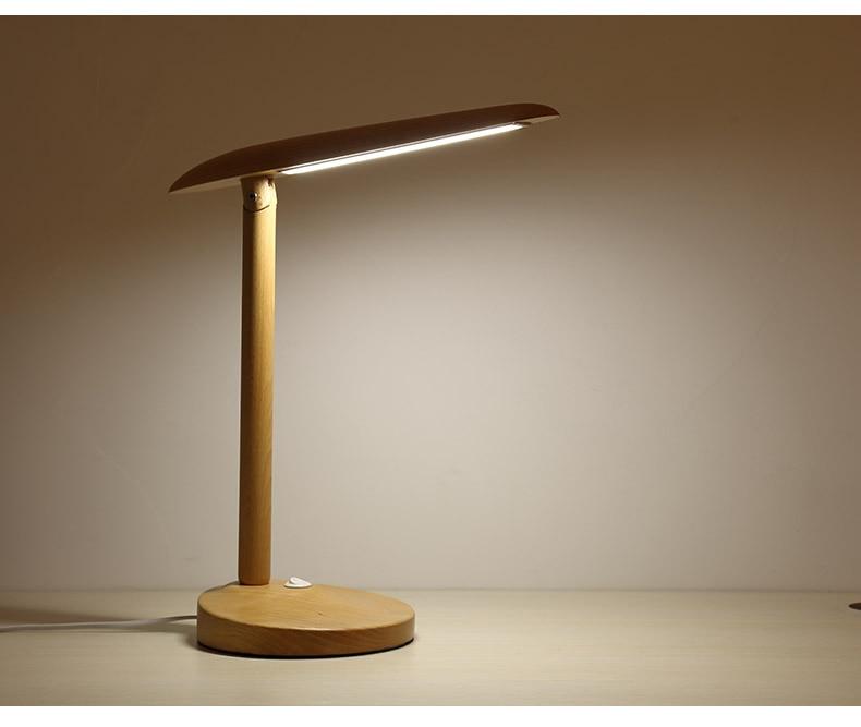 CRUBON Nordic modern minimalist led living room desk lamp wooden art bedroom bedside creative solid wood modern brief led lamp