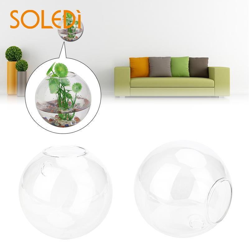 8 см Настенная стеклянная ваза для цветов Террариум полукруглая домашняя садовая декоративная шаровая подвесная стеклянная сферическая прозрачная ваза