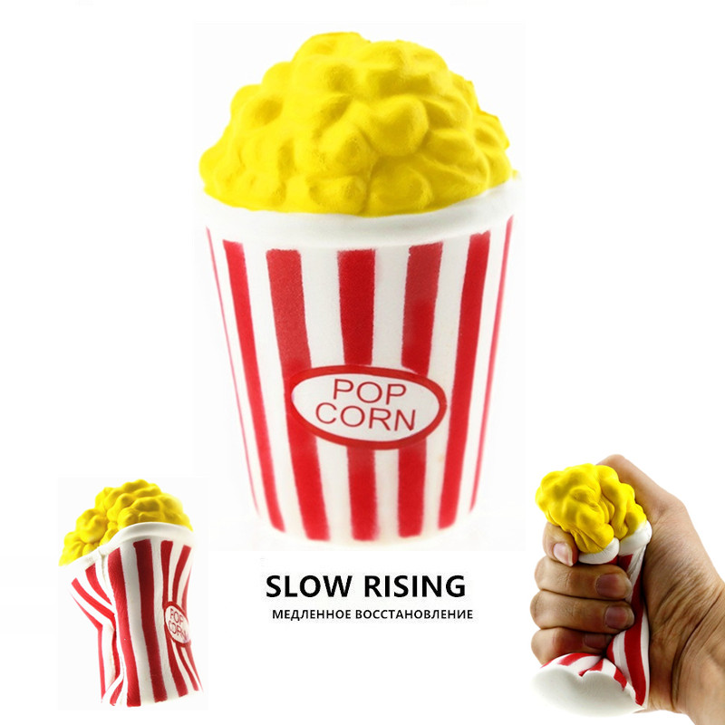 Popcorn Squishy Antistress Soft SlowRising Jumbo Toy Squeeze Toys For Children Funy Simulation Squishi